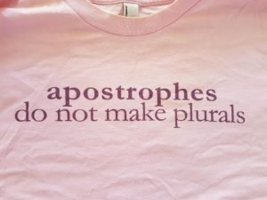 Apostrophe t-shirt