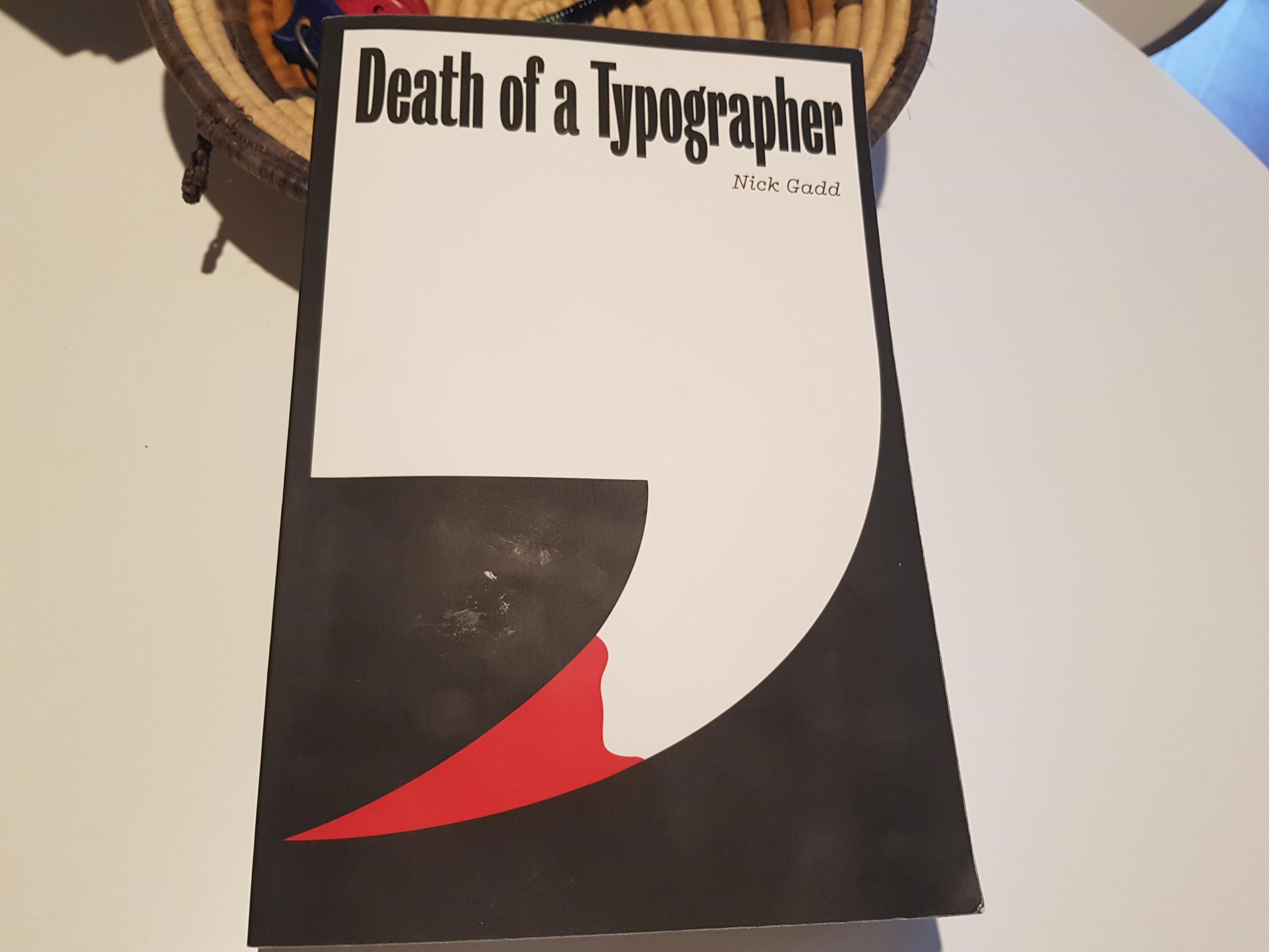 Death of a typographer cover